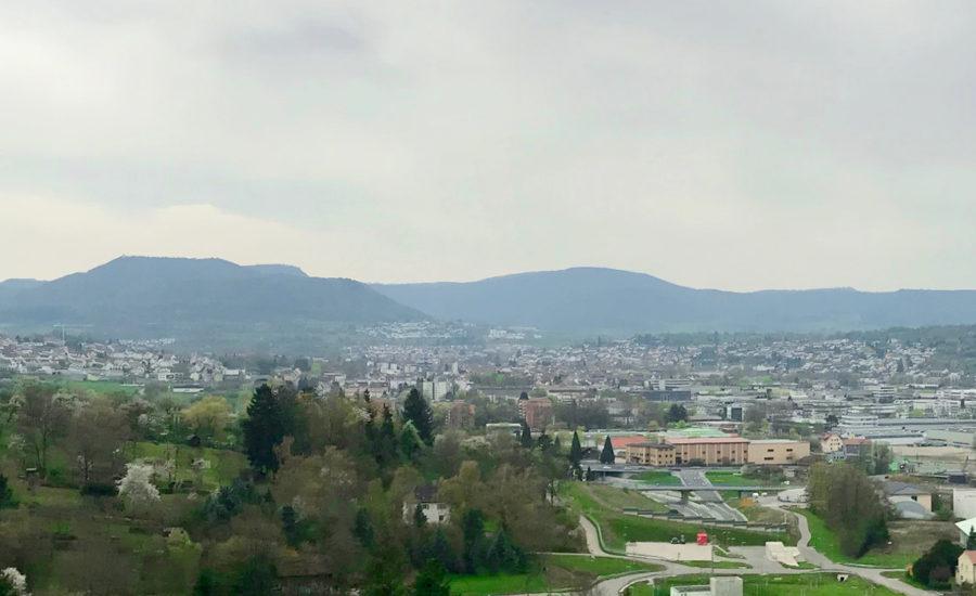 Blick über Pfullingen Landschaft