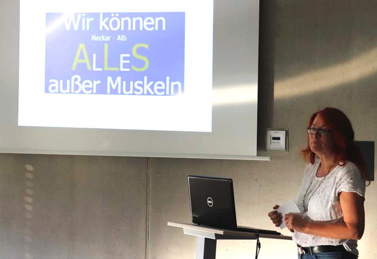 Vortrag Angelika Weckmann zu ALS im peb2