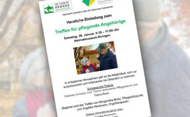 Collage Plakat Treffen für pflegende Angehörige