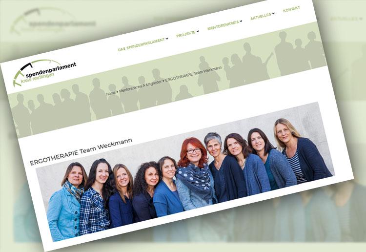 Ergotherapie Team Weckmann ist Mentor beim Spendenparlament Reutlingen